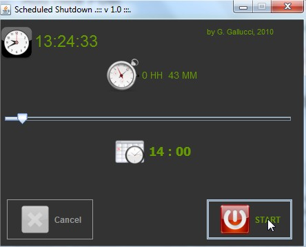 how to shutdown pc in specific time