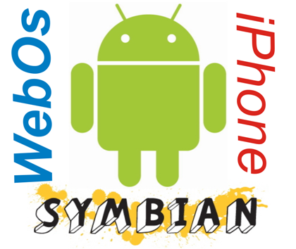 android iphone symbian and webos