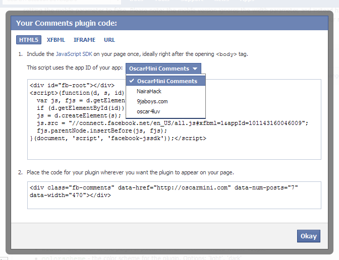 Get Code From Facebook
