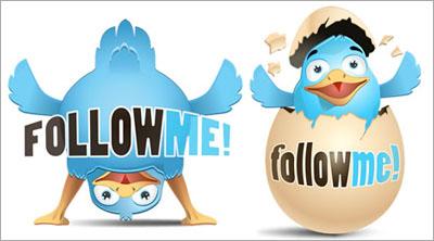 adding twitter follow button to a website