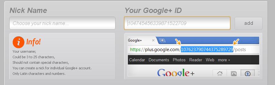 gplus username