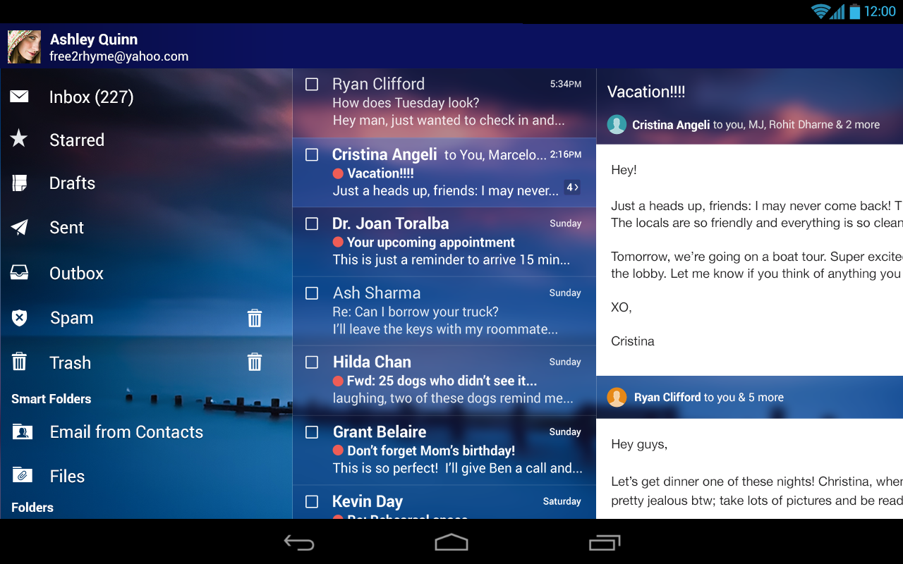 Yahoomail for Android