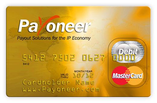 funding a payoneer mastercard