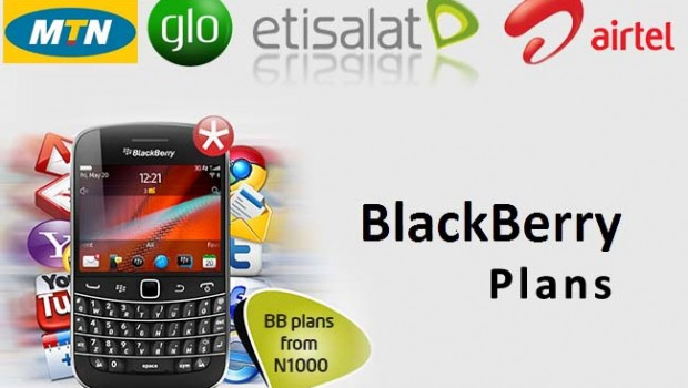 complete list of all network blackberry data plans