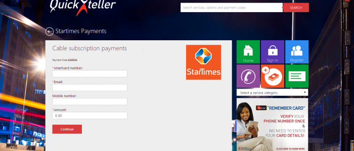 how to pay for startime subscriptions online atm and quickteller app