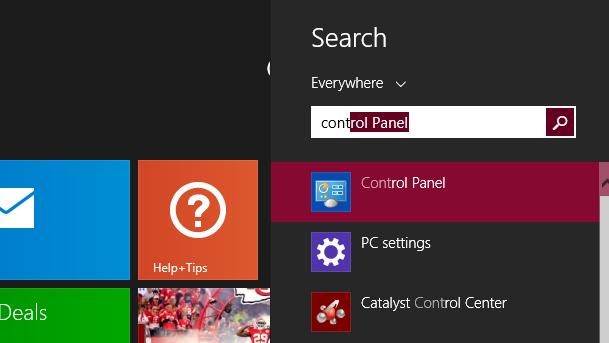 launching Control Panel