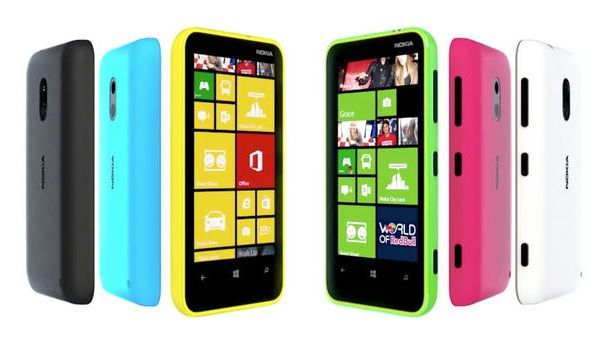 Nokia Lumia 620 Fleet of color variants
