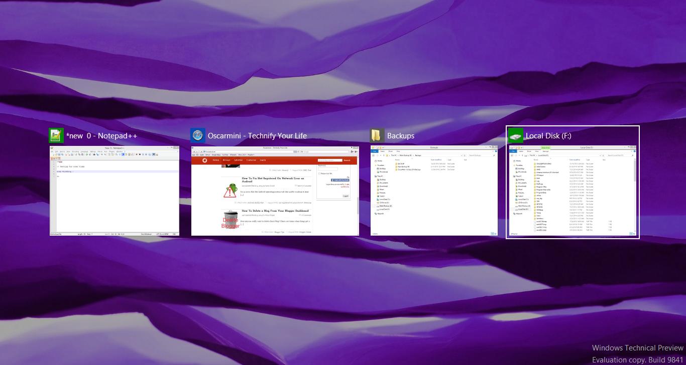 Flipping with Alt + Tab in Windows 10