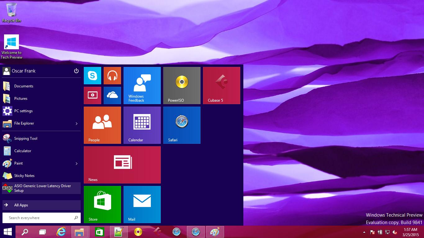 Start Menu on Windows 10