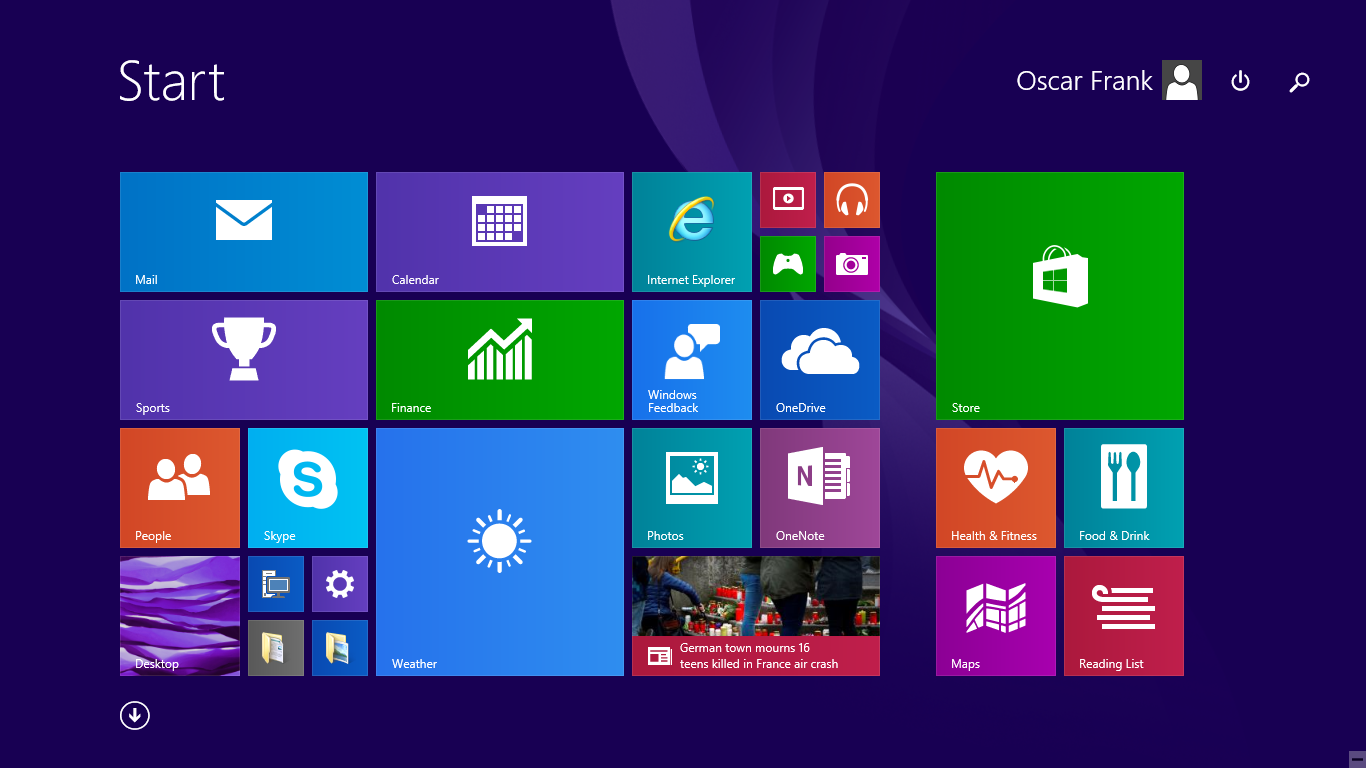 Start Screen in Win 10 Technical Preview