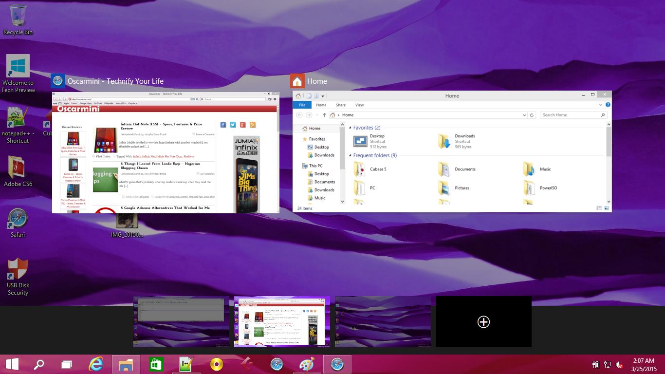 Cool Virtual Desktops UI