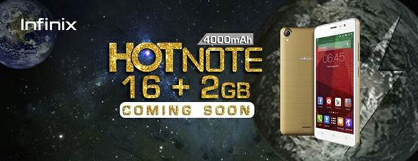 Infinix Hot Note with 2GB RAM