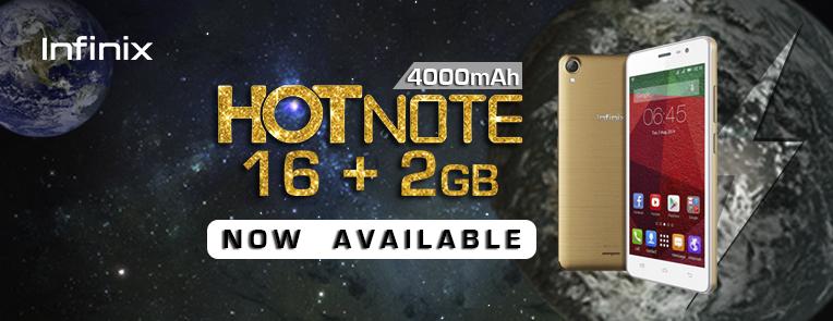 Infinix Hot Note 2GB RAM