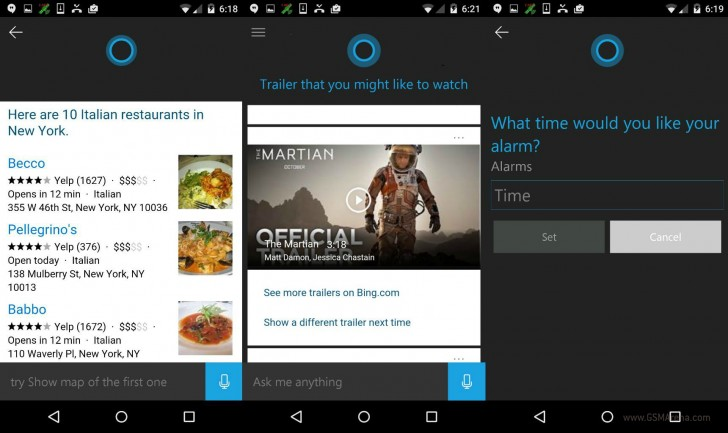 Cortana Now on Android