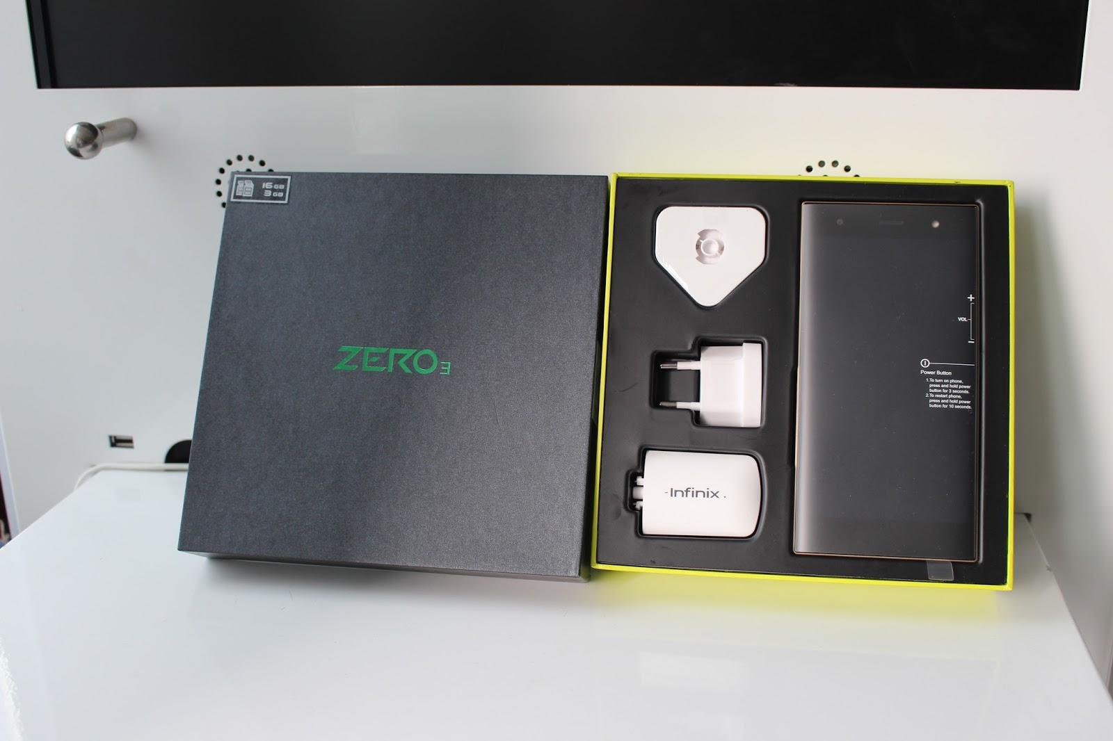 Infinix Zero 3 with Accessories