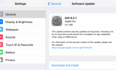 Apple Releases iOS 9.2.I to Fix Some Bugs on the Previous Version