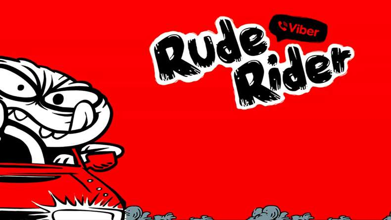 Viber Rude Rider Game for Android and iOS