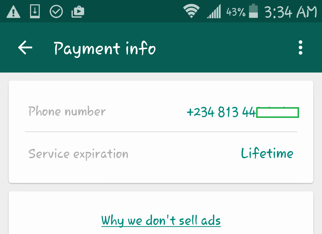 Whatsapp now free for ever