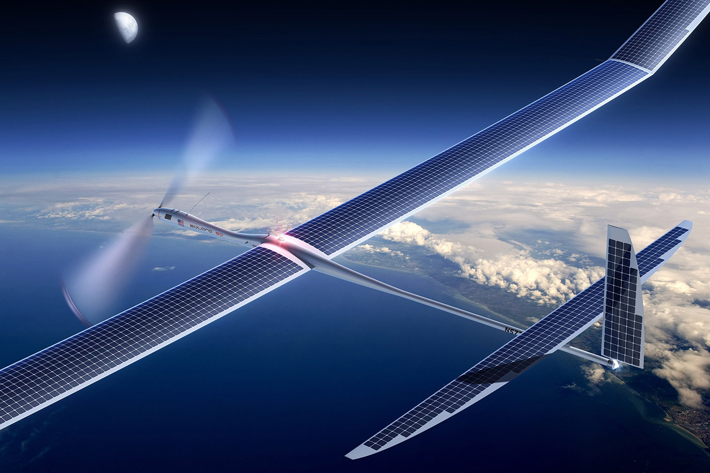 Google 5G Solar powered Drone