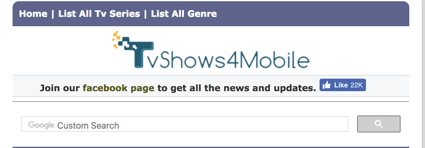 Download latest TV shows and movies from TVShows4Mobile