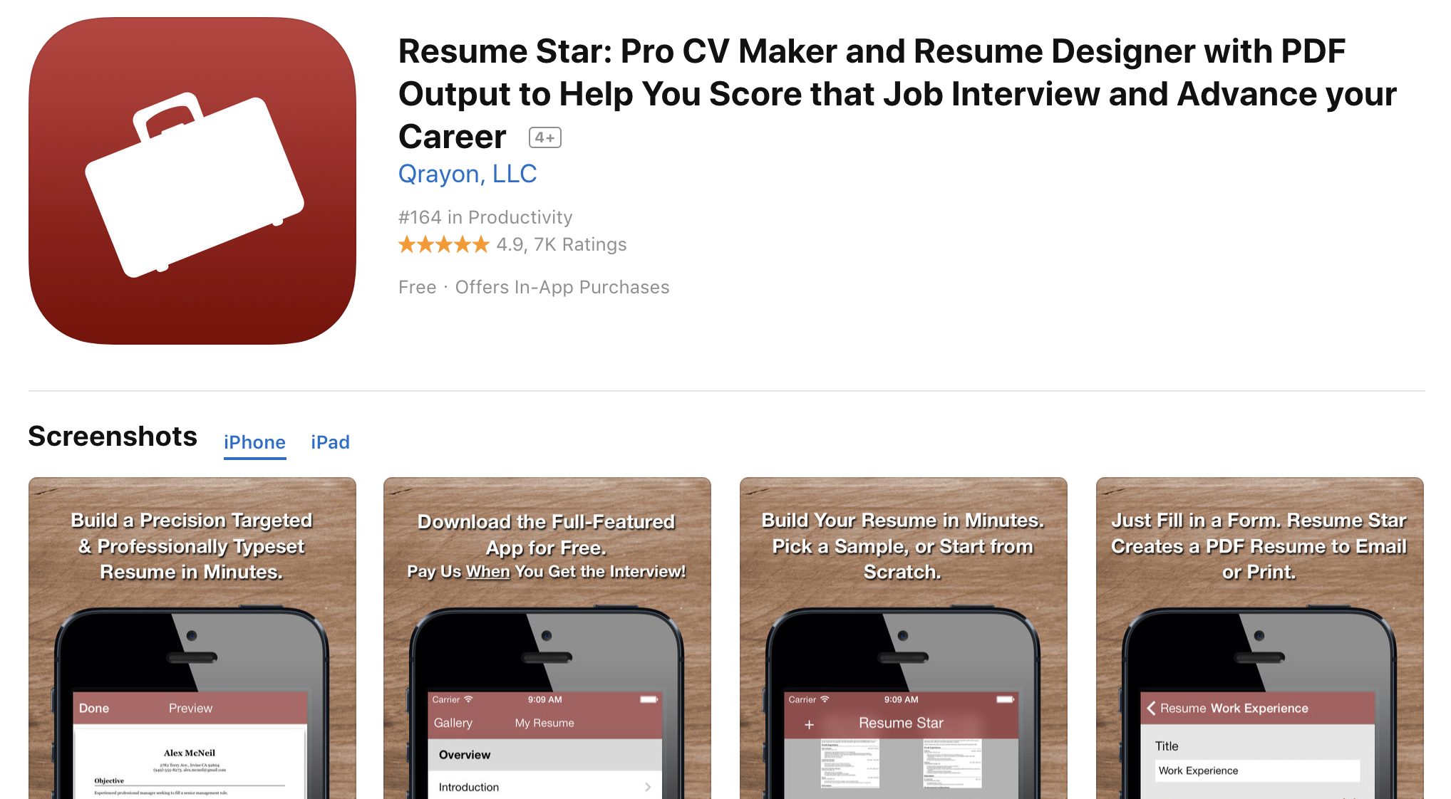 Resume Builder App Free Enchanting 48 Best Free Resume Builder Apps For IPhones IOS 48