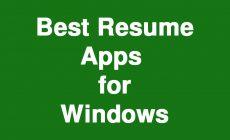 5 Best Resume Builder Apps (Software) for Windows PC 2018