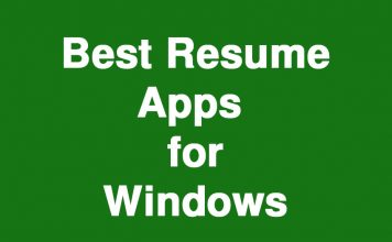 Best Resume Apps for Windows
