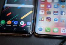 iphone x and samsung galaxy s8